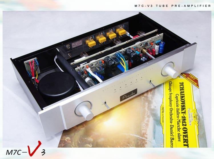 A.Audio M7 3 Bóng 12AX7 + 1 Bóng 6X4 [Preampli Đèn]