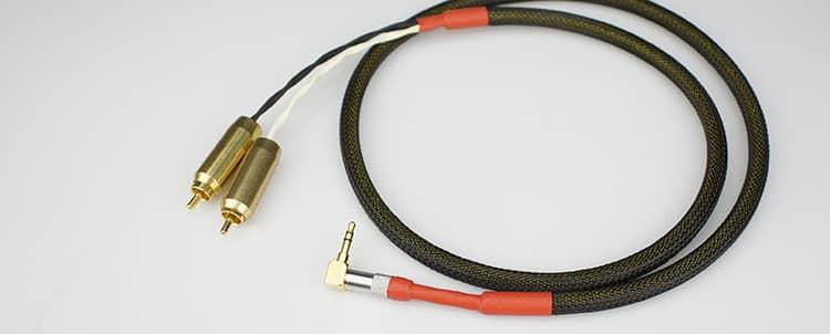 Aucharm Jack 3,5mm Đến Hai Đầu RCA Mạ Bạc