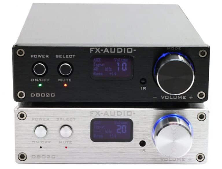 FX Audio D802C 80W*2 192KHz AUX/Coaxial/Optical/USB/Bluetooth Class D + Điều Kiển Từ Xa