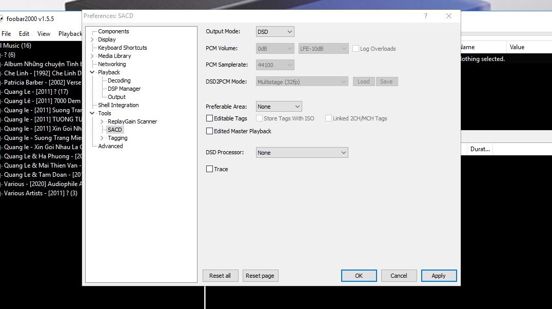 Cài đặt, cấu hình Foobar2000 để nghe nhạc số