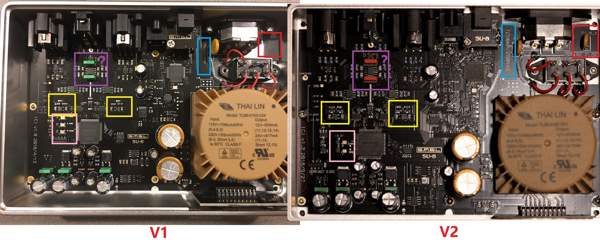 Giải Mã DAC SMSL SU-8 2ES9038Q2M PCM32 768kHz DSD512 [Version 2]