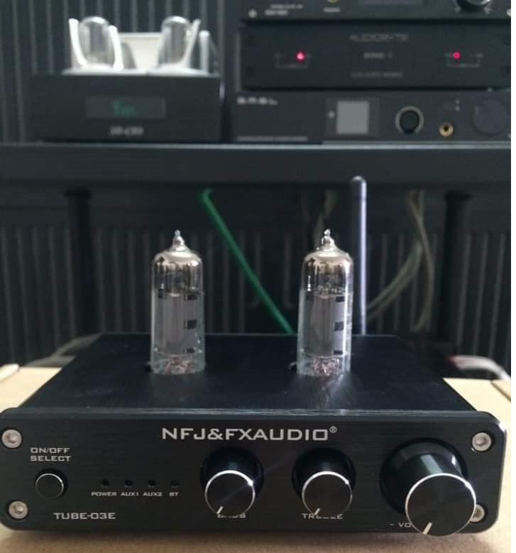 FX-AUDIO TUBE-03E Bluetooth 4.2, Tube Preamplifier Bóng 6K4 x 2