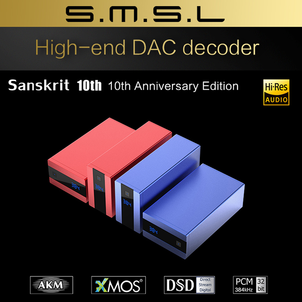 SMSL Sanskrit 10th HiFi Digital USB DAC Decoder AK449