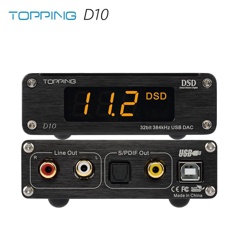TOPPING D10 XMOS XU208 ES9018K2M OPA2134