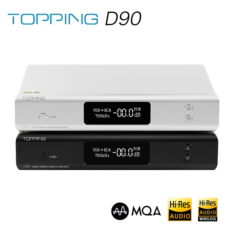 TOPPING D90 MQA AK4499 AK4118 Full Balanced DAC Bluetooth 5.0 DSD512 Hi-Res