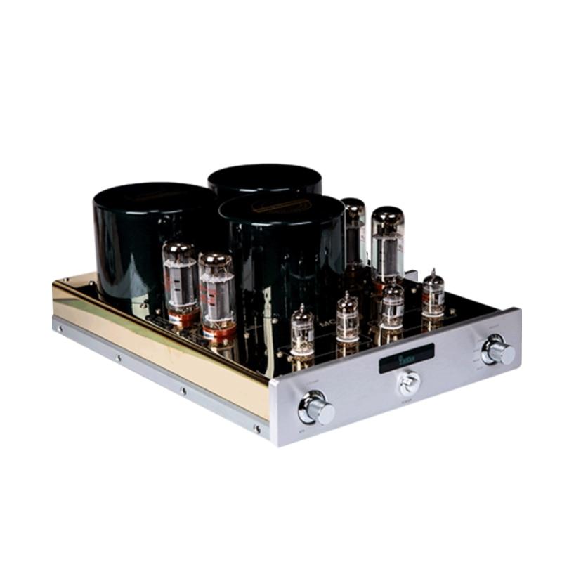 YAQIN MC-10T Desktop El34 Vacuum Tube Amplifier Hifi Tube Amp Preamplifier with 12AX7 Pre-amp
