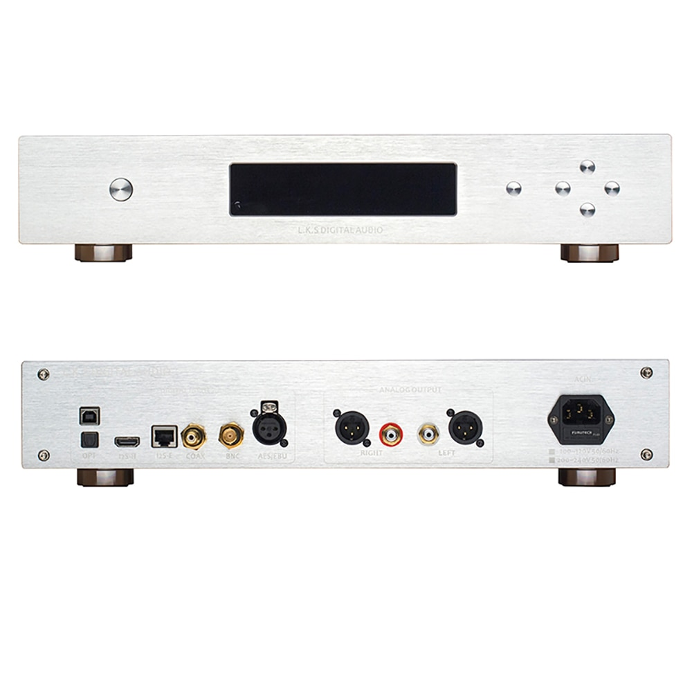 L.K.S Audio MH-DA004 Dual ES9038pro Flagship DAC DSD Input Coaxial AES EBU for DoP USB I2S Optical Audio Decoder D/A Converter