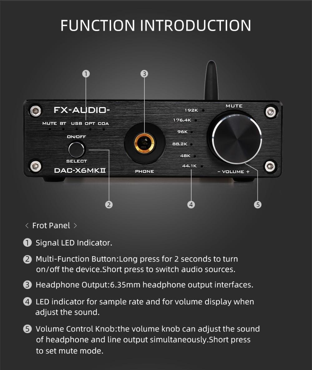 DAC Giải Mã FX-Audio DAC-X6 MKII ESS9018, Bluetooth 5.0 APTX